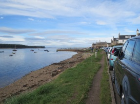 Walk along the water in Findhorn
